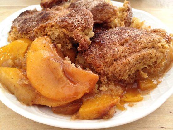 tartas de frutas recetas tarta de melocoton Southern Peach Cobbler (tarta de melocotón) recetas fáciles y rápidas tartas recetas fáciles frutas postres recetas delikatissen cobbler de melocotón