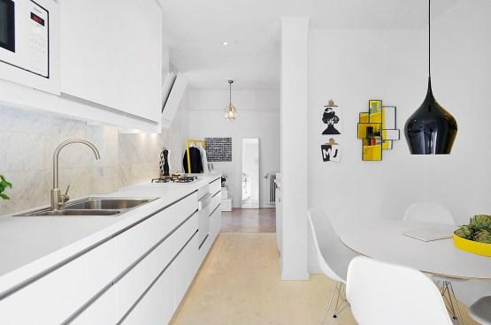 muebles de diseño lámparas de diseño estilo nórdico escandinavo decoración en blanco decoracion diseño interiores decoración detalles de color cocinas nórdicas cocinas modernas blancas blog decoración nórdica Atrevidos toques de amarillo deco