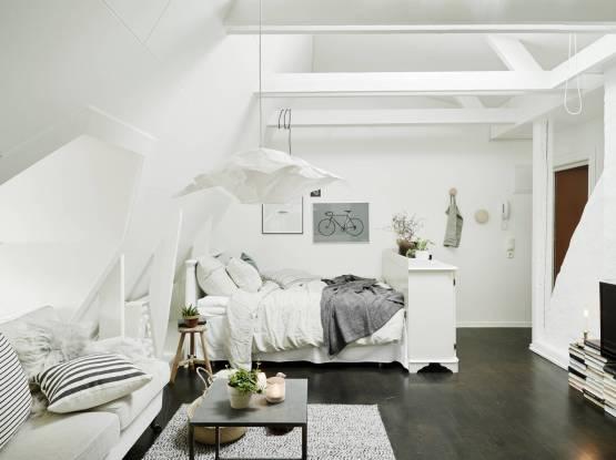 espacios pequeños diáfanos diseño interiores pequeños diseño de aticos decoración femenina decoración espacios pequeños decoración en blanco decoración de áticos cocinas blancas pequeñas blog estilo nordico escandinavo