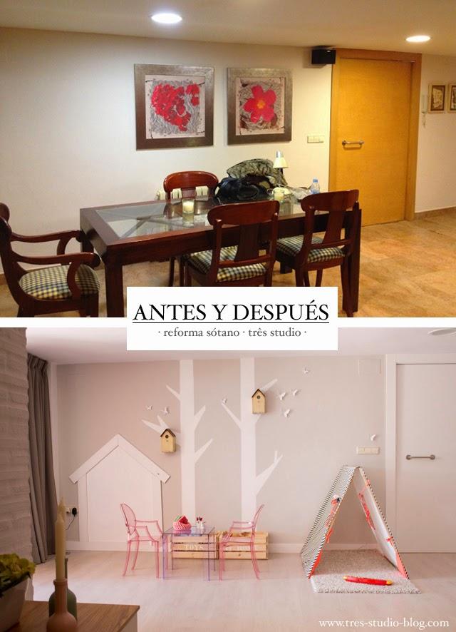 Precioso piso n rdico en el s tano de una casa en valencia for Salones para pisos