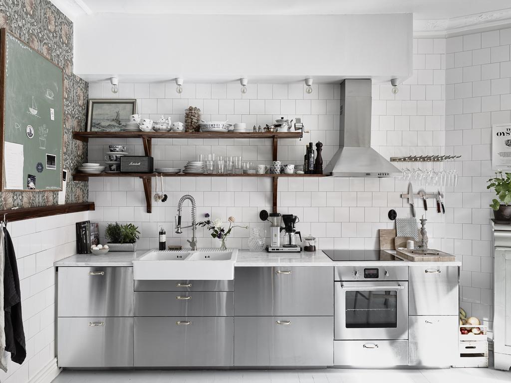 de acero inoxidable cocinas contemporáneas cocinas blancas blog #5E4D41 1024 768