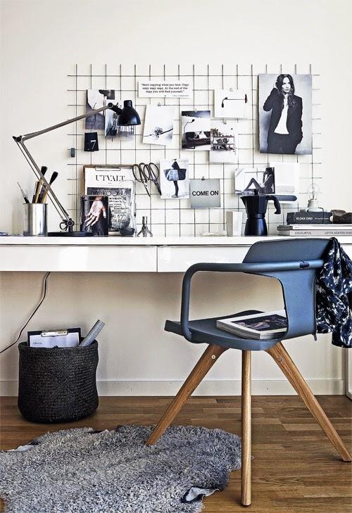 La oficina n rdica en casa blog tienda decoraci n estilo - Despacho en casa decoracion ...