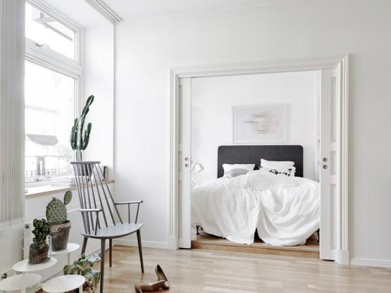 optimizar espacio pisos pequeños estilo nórdico escandinavo estilo moderno contemporáneo decoración pisos pequeños decoración en blanco decoracion dormitorios decoración de interiores blog decoración interiores nórdicos
