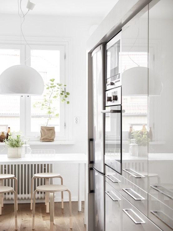 decoración sencilla con estilo decoración pisos pequeños decoración nórdica decoración en blanco cocinas blancas pequeñas cocinas blancas nórdicas blog decoracion interiores
