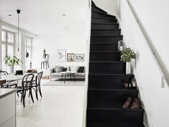 19 escaleras en pisos n rdicos blog tienda decoraci n estilo n rdico delikatissen - Como pintar una escalera interior ...