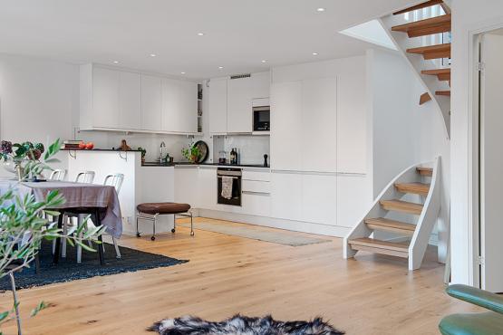 estilo contemporáneo escaleras en pisos nórdicos escaleras de caracol ideas diseño de escaleras decoración interiores blog Decoración de interiores decoración áticos y dúplex cocinas modernas