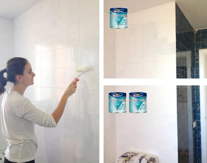 Antes despu s cuarto de ba o n rdico blog decoraci n - Pinturas para baldosas ...