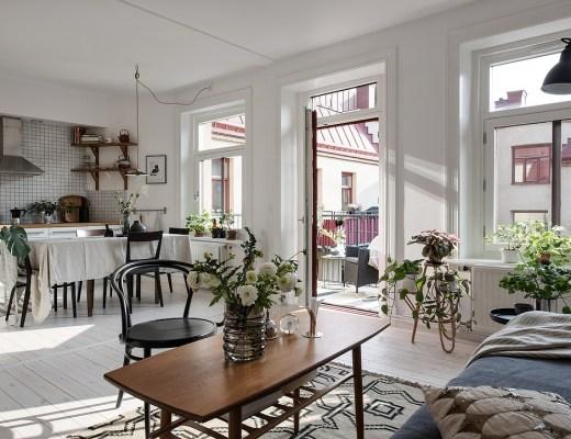 blog decoración nórdica, decoración en blanco, decoración neutros, decoración pisos pequeños, Decorar con plantas y flores blancas, estilo escandinavo, flores frescas decor