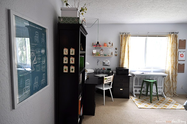 Guest Room Office Makeover Reveal