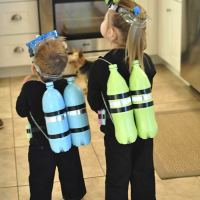 DIY Scuba Diver Halloween Costume