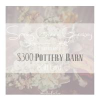 $300 Potterybarn Spring Green Giveaway!