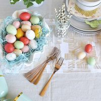 How to set an Easy Spring Table Setting