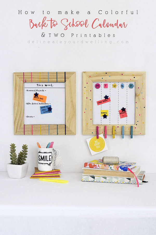 How to make a Colorful Back to School Calendar - Delineate Your Dwelling