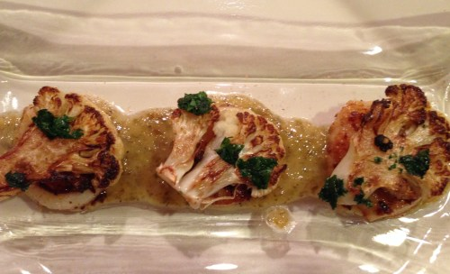 Seared Scallops w/ Caper-Raisin Sauce