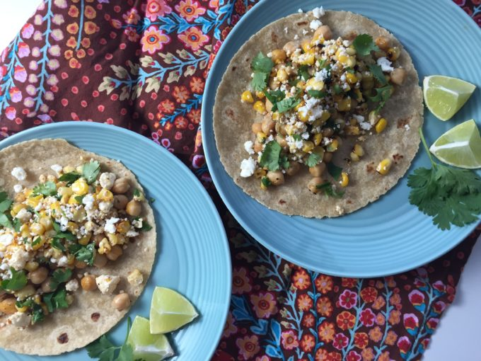 Garbanzo Beans and Corn Make an Amazing Filling for these Tacos!