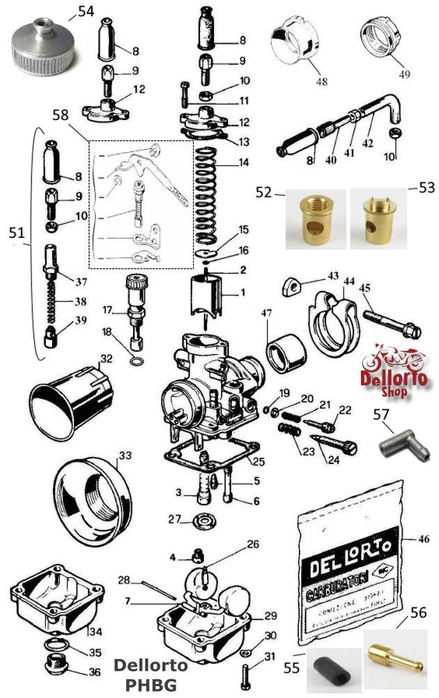 dellorto parts diagram