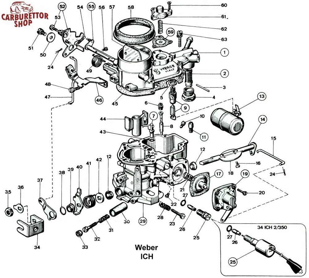 Weber Fuel Filter Auto Electrical Wiring Diagram Holley 2300 2300g 2300mg Exploded Diagrams The Old Car Manual Dellorto Parts
