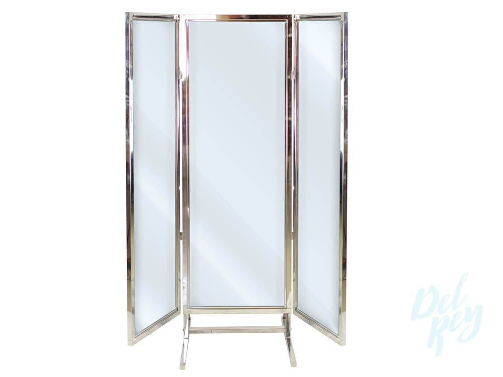 Trifold Full Length Mirror - Del Rey Party Rentals - tri fold table tent