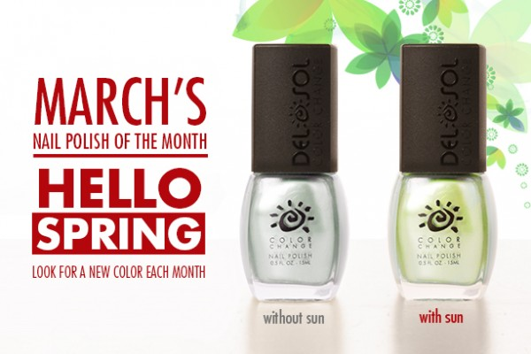 March39s Nail Polish Of The Month Hello Spring Del Sol