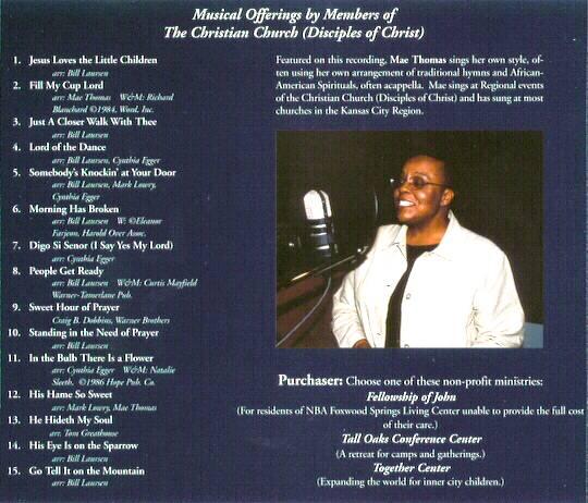 Back Cover of \u201cAwake My Soul\u201d CD case