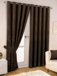 Brown Living Room Curtain Ideas