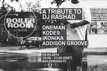 Boiler Room Tribute to DJ Rashad