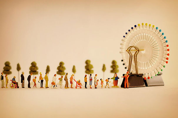 Cute Japanese Art 4k Wallpaper Japanese Artist Creates One Playful Diorama Each Day For 4