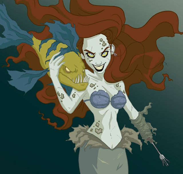 Acid Iphone Wallpaper Disney Princesses Reimagined As Creepy Characters By
