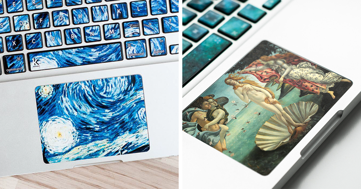 Cute Makeup Wallpaper Keyboard Stickers Turn Laptops Into Iconic Paintings