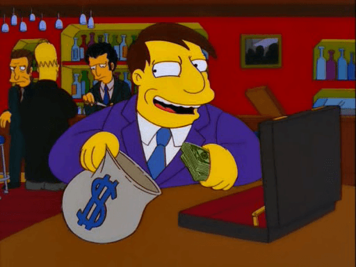 mayor quimby corruption simpsons