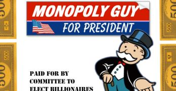 Wisconsin Election Ad For PResident Monopoly Guy