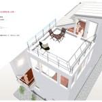大収納と中庭のある空間
