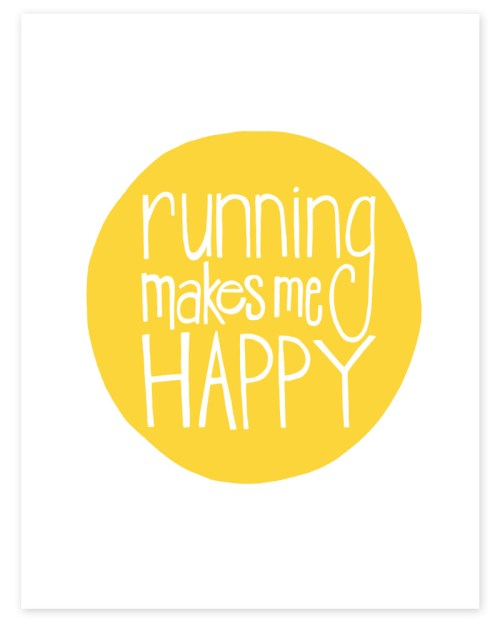 running makes me happy print