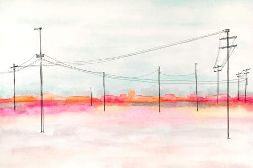 urban sunshine 7 watercolor