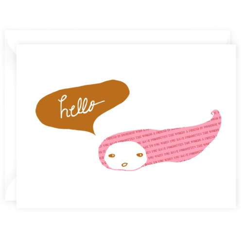 hello note card