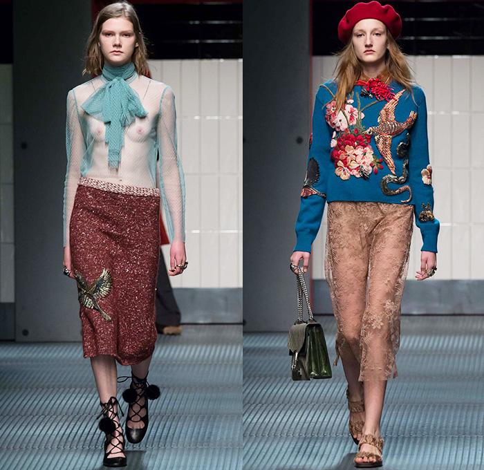 Gucci 2015 2016 fall autumn winter womens runway denim