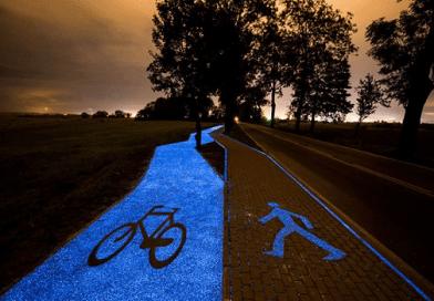Geceleri Parlayan Bisiklet ve Yürüyüş Yolları