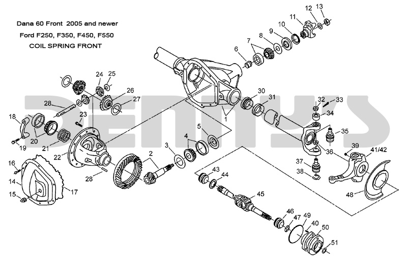 60 front axle parts diagram on ford f 250 front end parts diagram