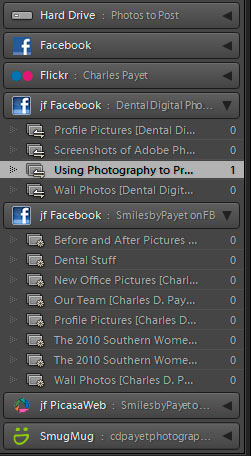 Dentists can easily export pictures to the office Fan Page with this Adobe Lightroom plugin.