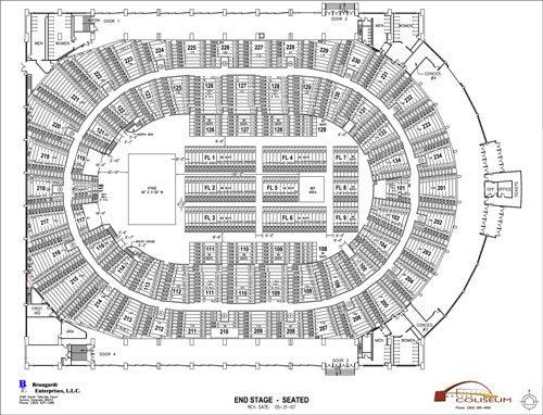 Seating Chart Denver Coliseum - seating chart