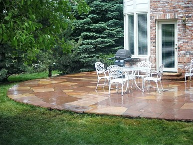 Denver Buffed Flagstone Masonry Patio