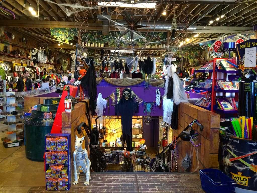 Halloween stores in Denver Wizard's Chest interior shot