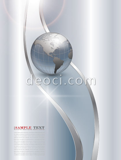 Free download vector metal earth album cover design template EPS - cover page templates