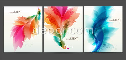 3 files cover the background design template material colorful - Ms Word Cover Page Templates Free Download