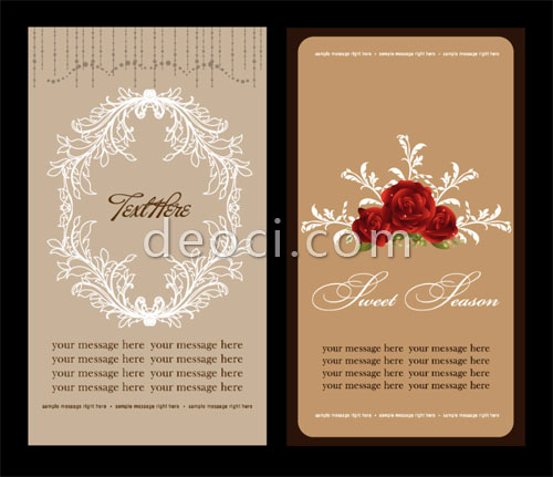 2 Elegant wedding invitation card brochure design template material