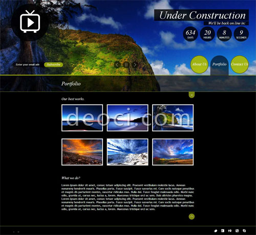 2012 best html5 cool website design template scenic Company - DEOCI