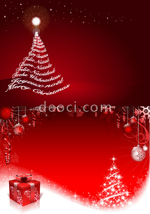 Free red Christmas Christmas tree posters advertising background