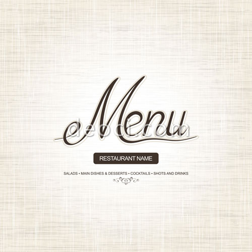 Free restaurant menu covers background design template vector
