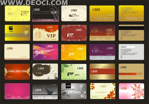 25 VIP membership card background Coreldraw design templates CDR - membership cards templates