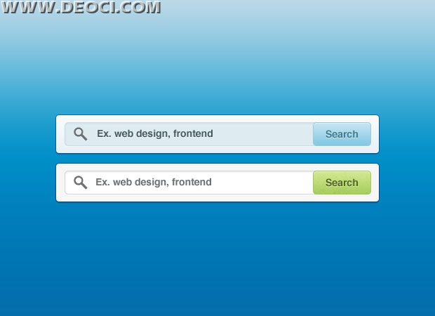 Two large-size Web 20 search box design PSD material free download
